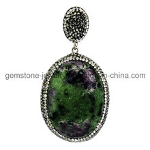 Retro Gemstone Precious Pendant for Fashion Jewelry Necklace
