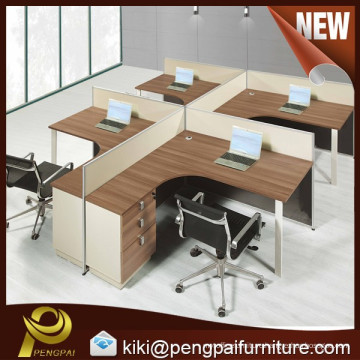 wooden office cubicle for 4 person
