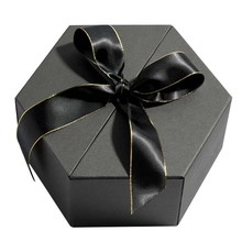 Hexagon Folding Jewelry Packaging Kotak Hadiah