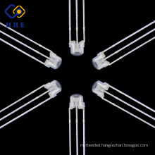 High demand products to sell 5mm straw hat Red&blue bi-color led common anode