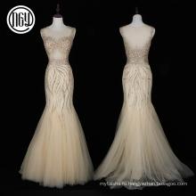 Модный оптовая sleveless платье модные платья расшитые камнями