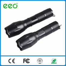 Zoom focus beam 3.7V 18650 or AAA battery 500 lumen focus zoom led torch searchlight rechargeable led flashlight