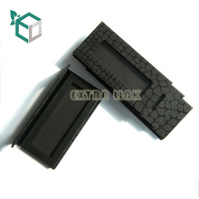 best sale black plastic single eyeshadow pan packaging with mirror