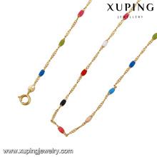 Corrente da jóia da cor da mistura 43080-Xuping com o ouro 18K chapeado
