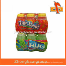 China manufacturer plastic lldpe/hdpe PE shrink film wrap for beverage /friut juice outer packing