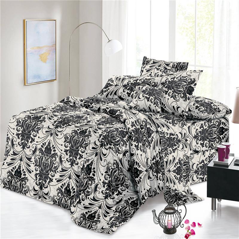 Black White Sheets Fabric