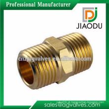 Bem grande qualidade latão média pressão hidráulica macho rosqueado conector fabricado na china