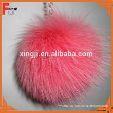 Bola teñida de calidad superior de los pompones de la piel de zorro