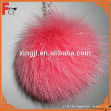 Top qualité teints fox fourrure pom poms balle