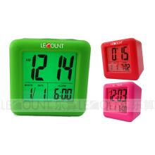 Portable Silicon Digtal LCD Calendar avec fonctions d'alarme et de répétition (LC979)