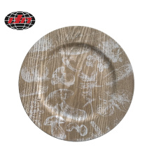 Plastic Plate with Printing Wood Veneer
