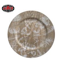 Plastic Plate with Printing Wood Veneer