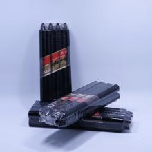 Black wax pillar lighting candles for household using