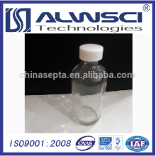 5ml Well-sealed Small Mouth white chemical Clear glass bottle