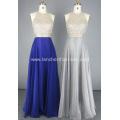 Ladies Crystal Beads Evening Dress for Fall