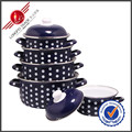 Hot-Selling Kitchenware Eco-Friendly Enamel Cookware Set