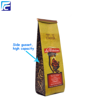 Custom Printed Matt Coffee Packaging Bags With Valve