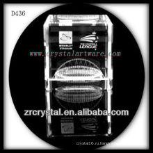 K9 лазерный 3D модель и логотип внутри кристалла куба