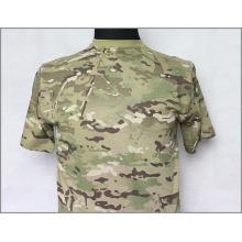 T-shirt Tactical Camo Militar em Algodão de Alta Qualidade