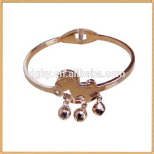 Gold Yellow Horse Shaped Stainless Steel Bracelets&Bangles for Ladies