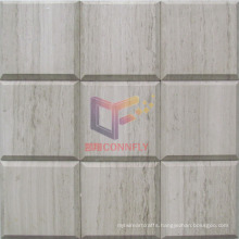 Belverd Style Wooden Marble Stone Mosaic (CFS1040)