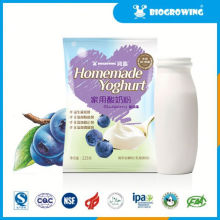 Sabor de arándano lactobacillus delicioso yogur congelado