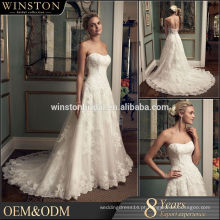 New Design Custom Made beading crystal sexy sereia casamento vestidos