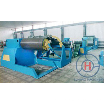Decoiler hidráulico de 10 toneladas 0-30m / Min cortado à linha de comprimento máquina de corte
