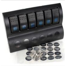 Interruptor de encendido / apagado del barco marino a prueba de agua de 5 cuadras LED Rocker & Circuit Breaker
