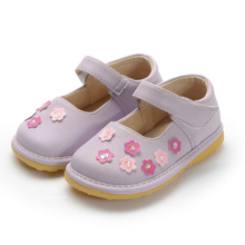 Purple Squeaky Shoes Girl Small Flower