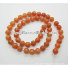 8MM Round Shaped red aventurine stone beads