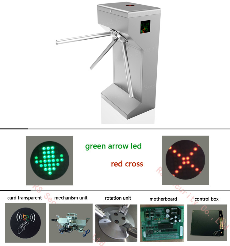 Remote Control Safety Tolling Tripod Turnstile