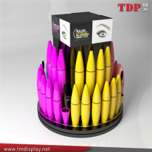 manufacturer retail shop rotating pop cosmetic display stand acrylic mascara display stand