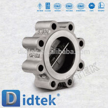Didtek Non Slam Design Dual Plate Lug Wafer Check Valve