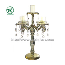 Glass Candle Holder with Five Posts by BV (10*23.5*22.5)