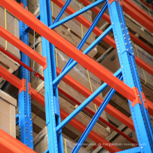 Heavy duty capacity system of storage steel racks