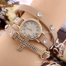 Cross diamond bracelet watch ladies fashion students watch three circles wholesale BWL018