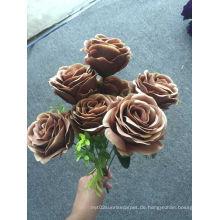 Bunte billige Rose künstliche Blumen-Fordecoration