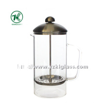 Glass Teapot with Stainless Steel (9.5*14*23)