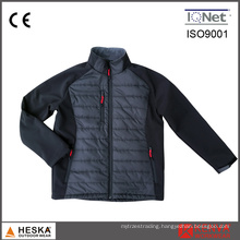 Latest Design Softshell Mens Black Padded Stitching Jacket