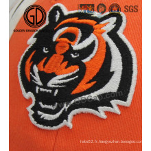 High Image Fidelity Tiger Embroidery Badge pour casquette, habillement