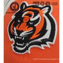 High Image Fidelity Tiger Embroidery Badge para boné, roupas