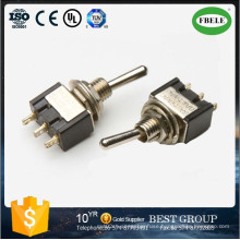 (ON) -off- (ON) Miniature Toggle Switch PC Terminal 6A 125VAC Toggle Switch