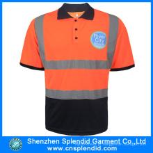 Custom Mens Fluorescência 3m Reflective Safety Polo Uniform