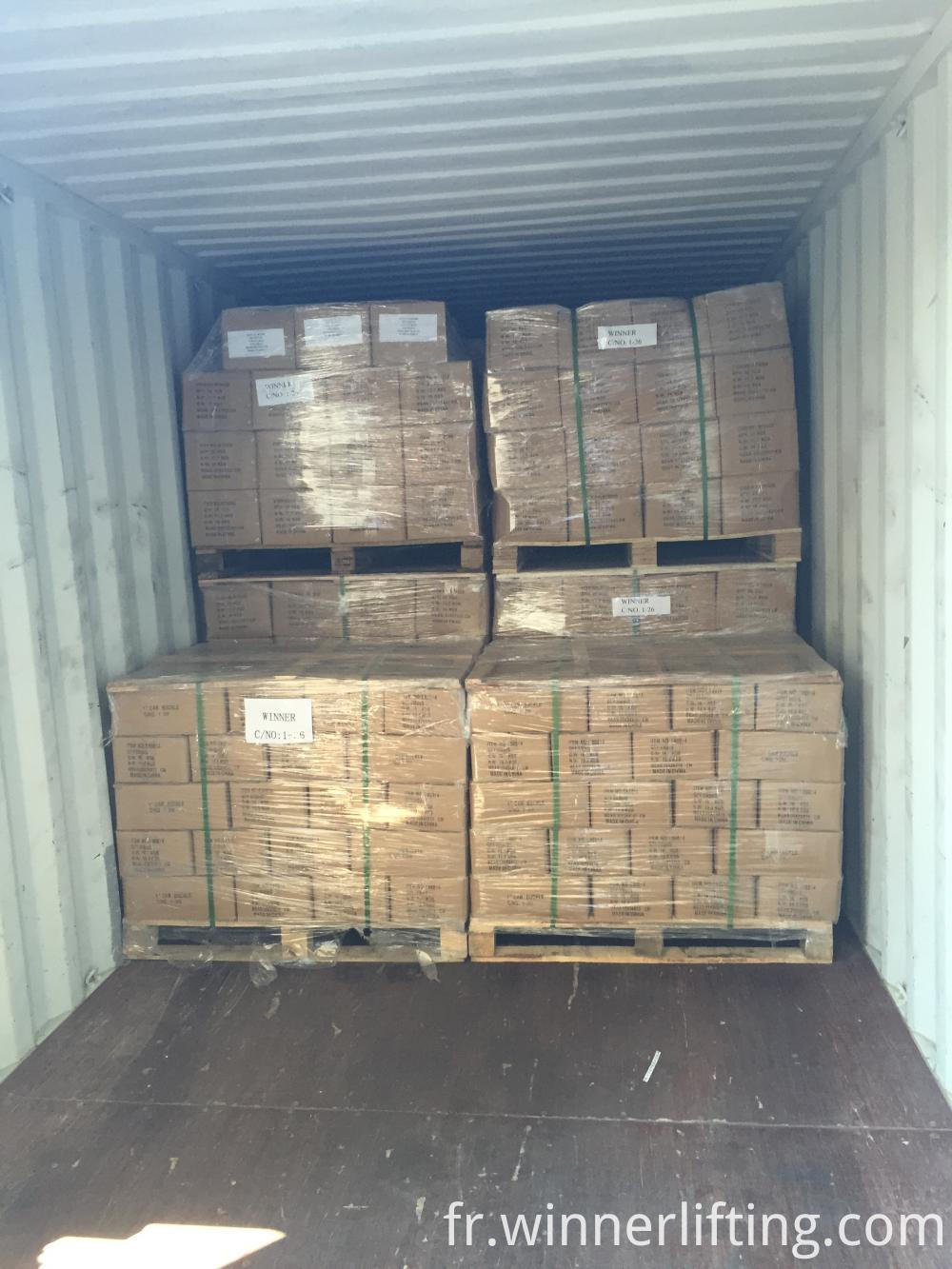 Pallet before shipping