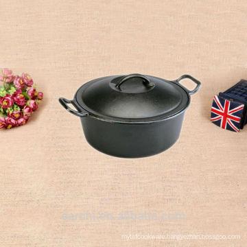 casserole shape metal cauldron