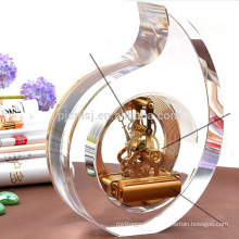 Personalize Crystal Round Shape Clock Wedding Souvenir