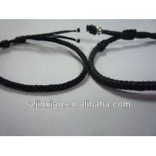 fazer pulseira de corda trançada