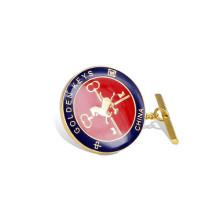 Emaille Revers Pin, rundes Gold überzogenes Abzeichen (GZHY-LP-024)