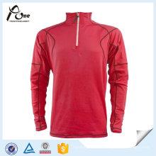 Camisas longas feitas sob encomenda da luva do fecho de correr do meio que funcionam a camisola